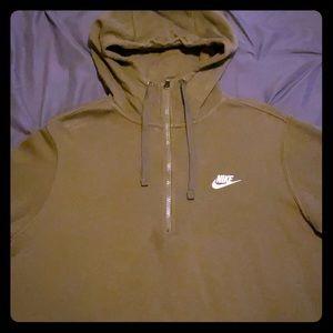 Nike Men's Hoodie Olive Green Size M
